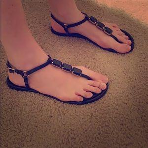 Banana Republic black sandal